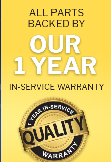 1-year in-service warranty for industrial automation repair