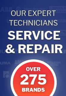 Expert technicians for service and repair of electronic automation equipment
