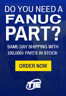 Over 100,000 Fanuc parts in stock, same-day shipping